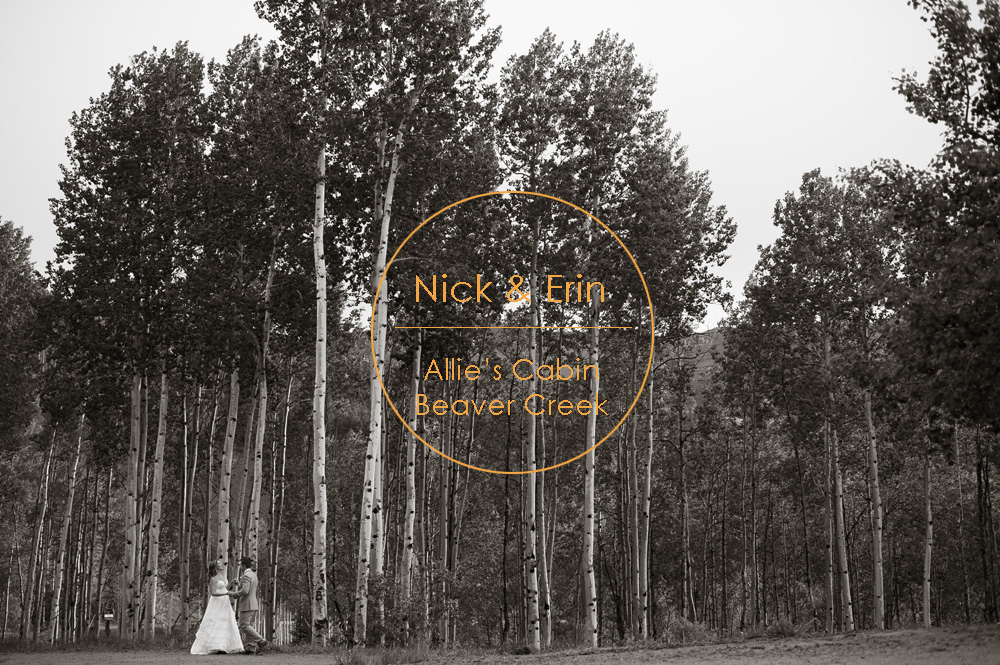 Erin nick s allies cabin wedding nate and jenny weddings Allie s cabin beaver creek