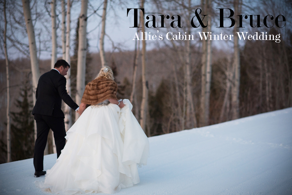 Tara bruce allie s cabin winter wedding nate and for Allie s cabin beaver creek
